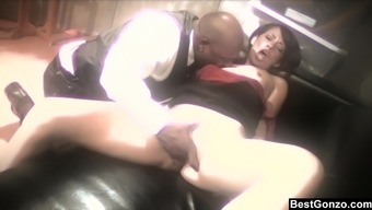 Lift starving Coco Velvett receives a wonderful pussy beating