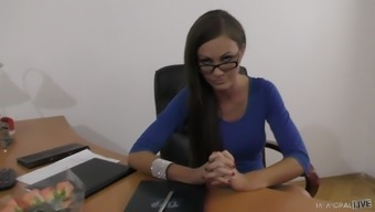 Tina Kay makes a joystick complicated with her mouths before driving it
