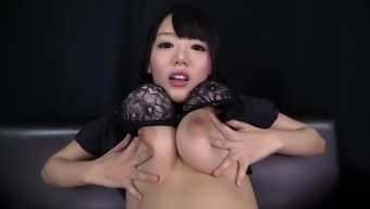 Mao Hamasaki is a girl inside a black wardrobe seeking a independently appointment