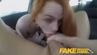 Worthless Driving School Ella Huges Does not her Examination on Goal