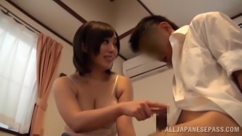 Slutty Oriental Along with Excellent Naturally-occuring Titties Gets A Large Cumshot In their Entrance