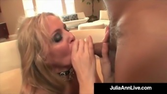 Huge Milf Julia Ann Does Interracial Undead Facial & Anus!
