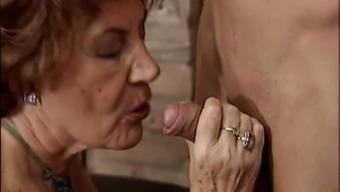 Granny getting horny bloke.
