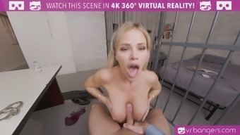 Jessa Rhodes will fuck you hard and suck you off to get out of the prison