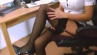 GERMAN SECRETARY OFFERS HER SPREAD ASS TO FUCK