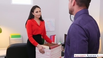 Young assistant Ariana Marie is fucked hard right in the office