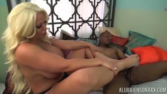 Blonde MILF Alura Jenson can't get enough of black dicks