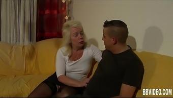 Blonde german milf take cock