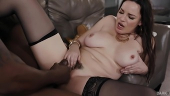 Immoral Dana Dearmond appears to be amazing on a chocolate schlong