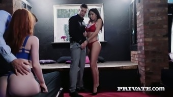 Succulent missy Julia de Lucia is driving a dick in the existence of two women