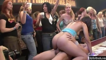 Its intense going at its finest with the use of half exposed nice girls everywhere having sex