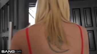 BANG Theory - Haley Reed RAW anal fuck through swimming pool man