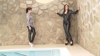 Incredible lesbian butt ingesting with Samia Duarte and her honey