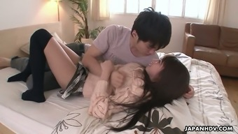 Far eastern hottie Hitomi Kitagawa gets her pussy creampied following a moist hammering