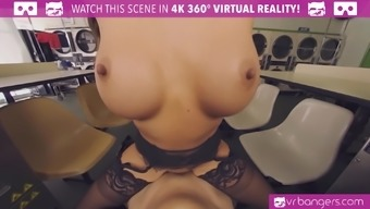 Abigail Mac Getting Pounded From Behind and Titty Creamed