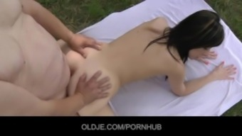 Small sucking old flaccid penis