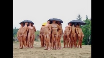 Nudists taking pleasure in Summer months