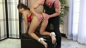 Baby by using ripe boobies Cassidy Lenders is fucked by mean bald went bf