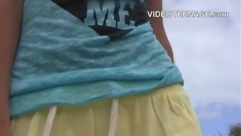 teen bare at beach compilation