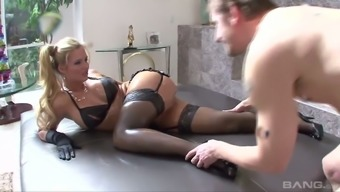 Both muscular pussy and exquisite bubble stupid ass of Phoenix Marie get nailed