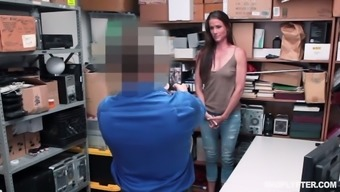 Shoplifting blond Sofie Marie gets punished within the back space
