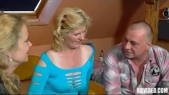 Bisexual the german language age female fucking in threesome