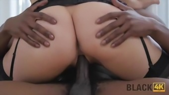 Black4k. big cock can save valentine from boredom and
