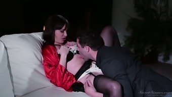 Fascinating milf Dana DeArmond is having over the edge love-making with cousin husband