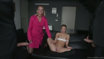 Horn-mad double cock penetration with such a wild slut called Alexis Crystal