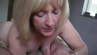 Hot wife sucking off my juicy cock live on webcam