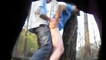 Truckers fucking in the woods caught on hidden cam - hornycamguys.com
