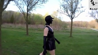 Excited Teen with Perky Tits Flashes and Masterbates in Sunny Public Park