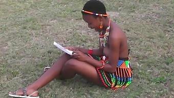 Topless African girls