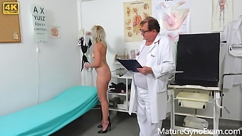 Horny MILF's rectal speculum exam and fucking with medic