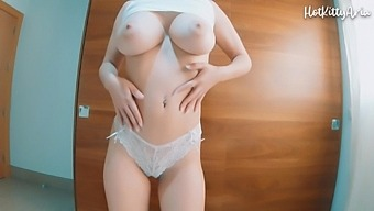 Take Off Her Lace Panties And Enjoy Her Big Tits Perfect Ass And Tight Pussy