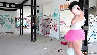 Dominant stud in black mask Nick Moreno brutally fucks submissive Aysha