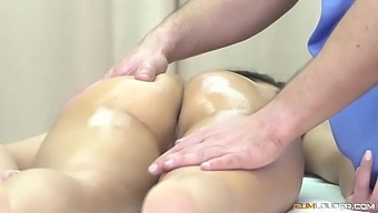 Amazing Latina Teen With Perfect Boobs Gets Massaged With Nick Moreno