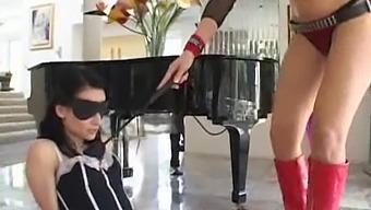 Wild double penetration threesome with slutty pornstar Alexis Malone
