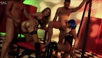 Hardcore group sex with anal loving pornstar Cherry Jul. HD