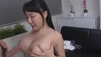 Video of natural boobs Japanese girl getting fucked by her boss