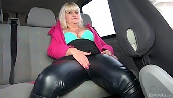 Naughty cougar Monita gets her tight pussy smashed in the car