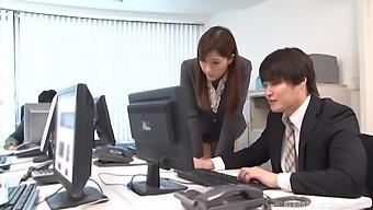 Hardcore fucking in the office with adorable secretary Aya Kisaki