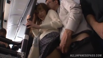 Naughty couple won't leave for intercourse, they actually do it right their personal within the public public bus