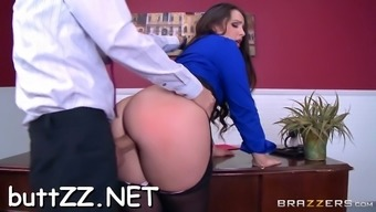 girl's booty spanked and fucked