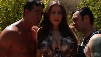Alex Possibility serves as a curvy brunette in need of a number of complicated dicks
