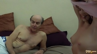 Ugly Grand father vs Gorgeous Little Women in extreme threesome