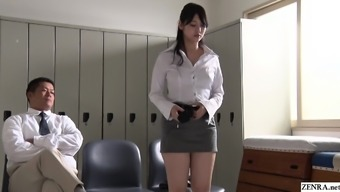 JAV be famous turned around teacher Rei Mizuna striptease Subtitled