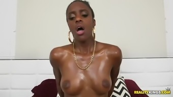 dark sore babe malaysia polished gets oiled before using white colored penis