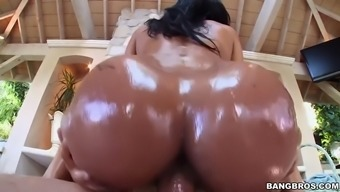abby lee brazil gets oiled way up after which fucked open air