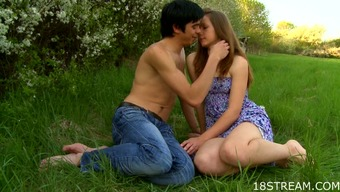 Sexual youngster lovemaking in the pasture
